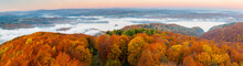 Solina Lake At Autumn Sunrise, Solina, Polańczyk, Bieszczady, Sunrise