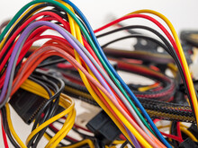 Electrical Wires, Cables, Electrical Wiring In The Building, Electrical Appliances, Close-up