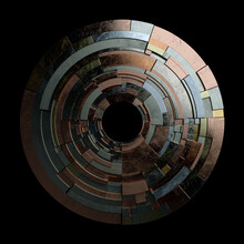 Stacked Metallic Breakdown As Gold, Silver, Copper Circle