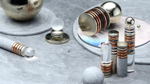 Metallic Nodes As Stacked Disks And Glass Spheres Reflections