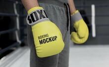 Man Wearing Boxing Gloves Mock Up_2