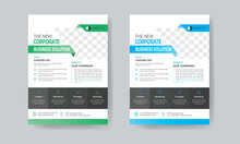 Business Flyer Layout With Colorful Accents
