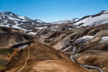 Hiking Path At Kerlingafjoll Mountains In Central Iceland
