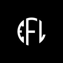 EFL Letter Logo Design. EFL Letter In Circle Shape. EFL Creative Three Letter Logo. Logo With Three Letters. EFL Circle Logo. EFL Letter Vector Design Logo