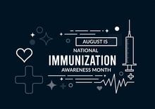 National Immunization Awareness Month. Vector