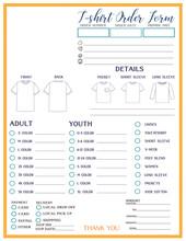 T-shirt Custom Craft Order Form