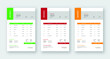 Invoice modern business Design eps