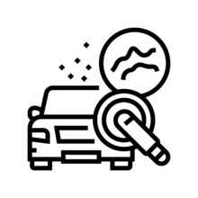 Scuff Mark And Minor Scratch Buffing Line Icon Vector. Scuff Mark And Minor Scratch Buffing Sign. Isolated Contour Symbol Black Illustration