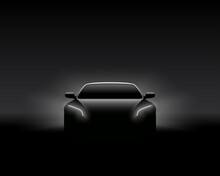Front-view-dark-concept-car-silhouette