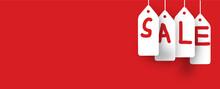 Red Color Sale  Poster Image Background Sticker Digital Art