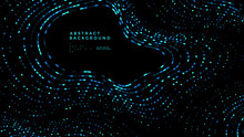 Abstract Data Technology Background. Modern Colorful Mosaic Wave Poster