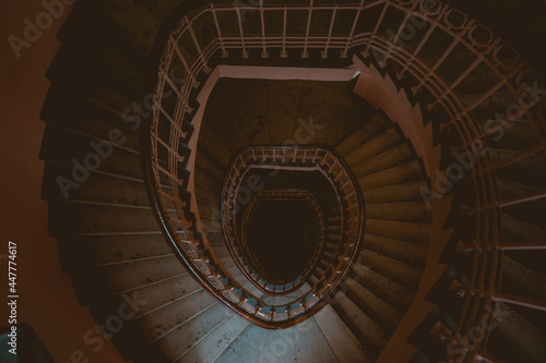 Fotografering spiral staircase in the church