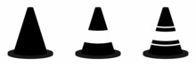 Traffic Cone Sign Vector Collection