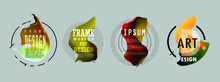 Template Brochures, Flyers, Business Presentations. Modern Flat Line Style.