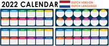 2022 Calendar Vector, Dutch Version