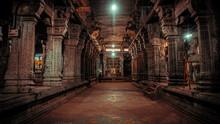 Thousand Pillars Of Ekambareswarar Temple, Earth Linga Kanchipuram, Tamil Nadu, South India - Religion And Worship Scenario Image. The Famous Hindu God Temple, Indias Best Tourism Place