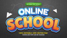 Online School Kids Cartoon Comic Game Editable Text Effect Style Template