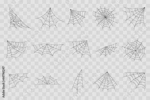 Fotografia Hand drawn spider web or Halloween cobweb.