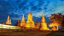Wat Chaiwattanaram,Old Temple Wat Chaiwatthanaram Of Ayutthaya Province( Ayutthaya Historical Park )Asia Thailand