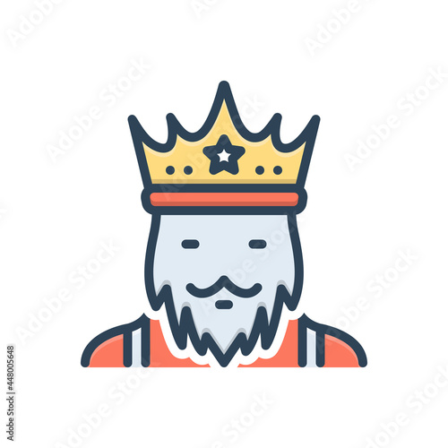 Fotografija Color illustration icon for king monarch