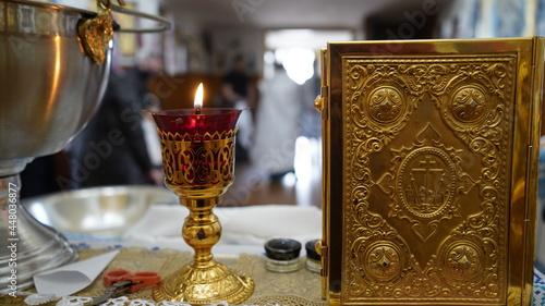 Fotografering Kiev region, Ukraine - May 2021: Christening