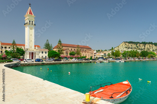 Agios Dionisios (Saint Denis) Church and the soaring bell tower, the largest chu Fototapet