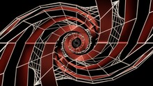Neon Light Of Modern Design., White Spider Cobe Wave On Red Curved Glass., 3D Rendering
