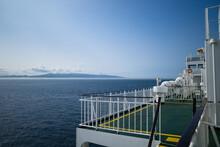 青函フェリーに乗って青森から函館へ向かう時に見える風景