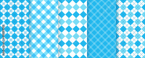 Fotografía Lozenge checkered seamless pattern