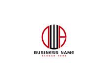 Creative DWP Logo Letter Vector Image Design For Business
