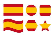 Spain Flag Simple Illustration For Independence Day Or Election