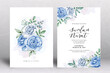 Beautiful Wedding Card Template with Watercolour Flowers