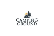 Camping Ground Logo Vector For Any Business.