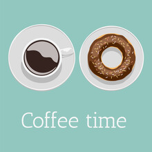 Coffee Time, Poster. Vector