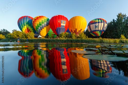 Fotografie, Obraz Suzdal, Vladimir region  Russian Federation - 07 22 2021:hot air balloon festiva