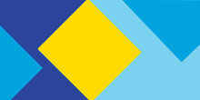 Yellow And Blue Arrow Background