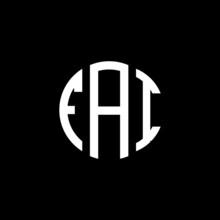 FAI Letter Logo Design. FAI Letter In Circle Shape. FAI Creative Three Letter Logo. Logo With Three Letters. FAI Circle Logo. FAI Letter Vector Design Logo