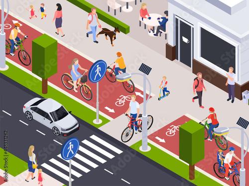 City Street Isometric Illustration