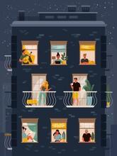 Neighbours In Windows Illustration