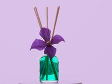 Image Of Glass Perfume Bottle Flower