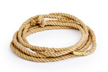 Rope Close-up On A White Background Isolated.