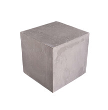 Concrete Cube Or Cement Brick Isolated On White Background