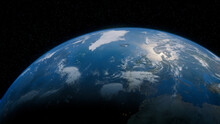 Earth In Space With Views Of Spain And Europe. Climate Concept.