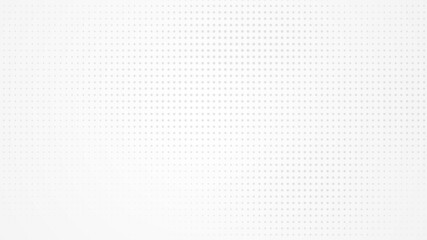 Dot white gray pattern gradient light texture background. Abstract technology big data digital background. 3d rendering.