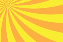 Sunlight Abstract Background. Bright Yellow Color Burst Background. Sun Beam Ray Sunburst Pattern Background. Vector Illustration.