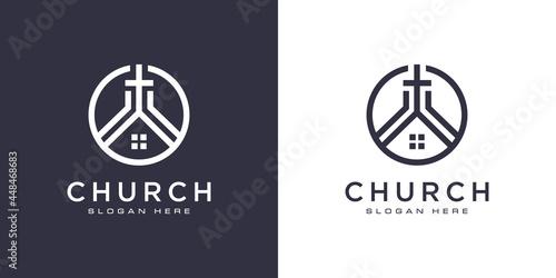 Foto church christian logo design vector