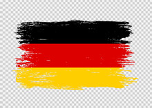 Germany Flag With Brush Paint Textured Isolated  On Png Or Transparent  Background,Symbol Of Germany,template For Banner,card,advertising ,promote,web Design,vector, Top Gold Winner Sport Country