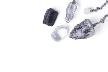 Top View Foretelling The Future With Crystal Pendulum.