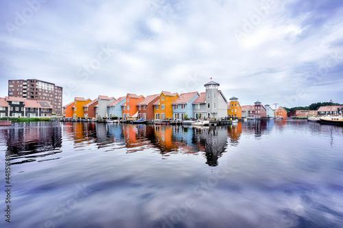Fototapeta Reitdiep, Groningen, Groningen Province, The Netherlands