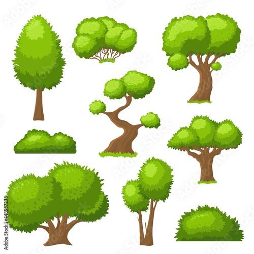 Tela Cartoon tree and bush